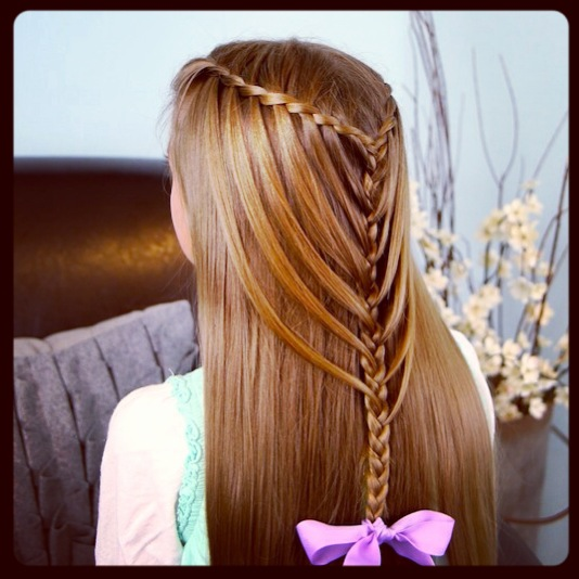 Waterfall Twists into Mermaid Braid | Cute Hairstyles