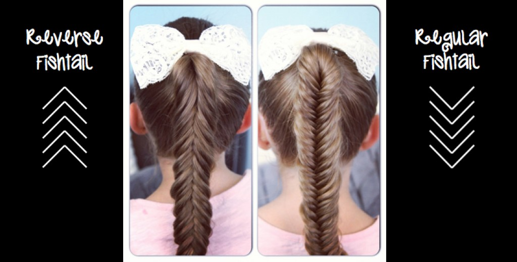 Reverse Fishtail Braid vs Regular Fishtail Braid