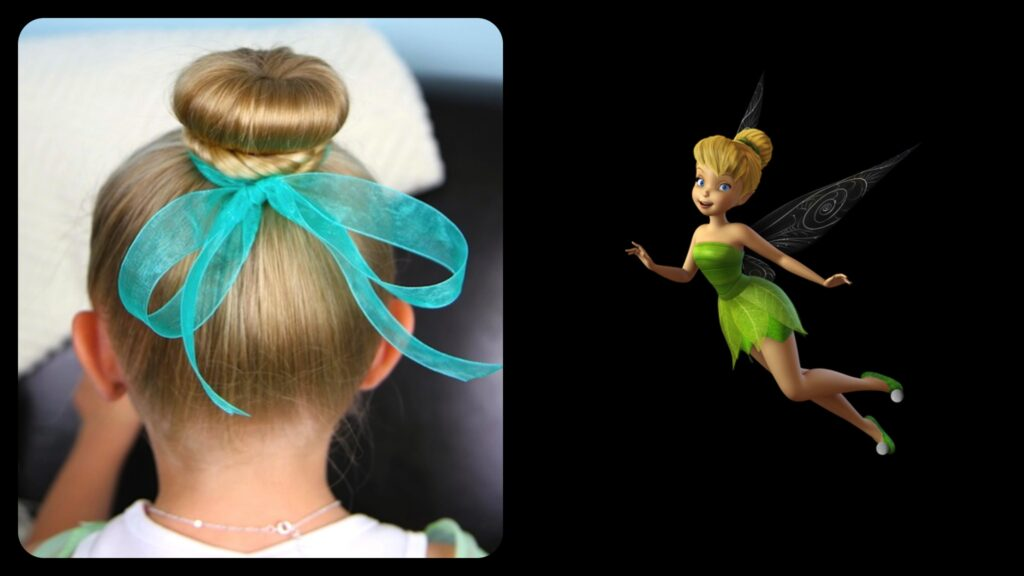 TinkerBell Hair Bun | Disney Hairstyles