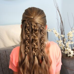 Back view of Textured Braids   Cute Hairstyle Accents