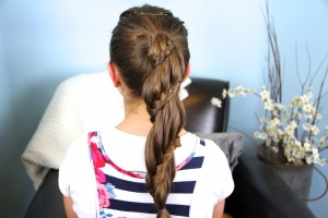 Winding Lace Braid Ponytail | Cute Hairstyles
