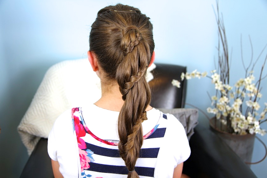 Winding Lace Braid Ponytail   Cute Hairstyles