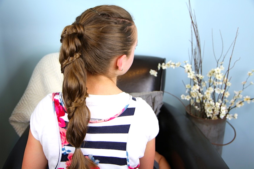 Back view of Winding Lace Braid Ponytail | Cute Hairstyles