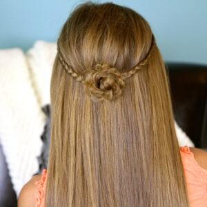 Cute Braided Flower Tieback | Hairstyles for Long Hair