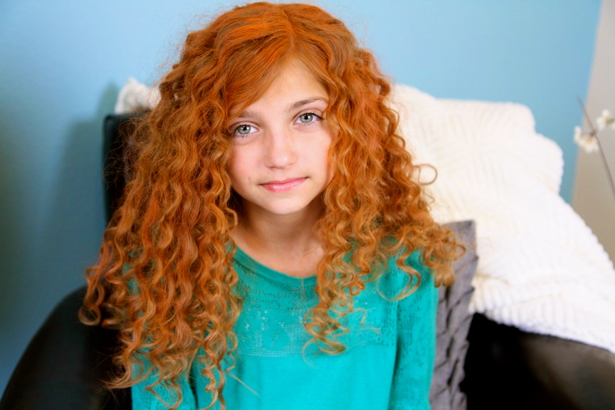 Merida's Hair | No-Heat Straw Curls | Disney Hairstyles