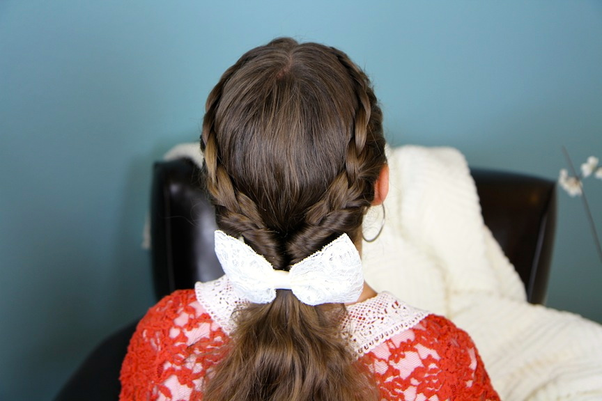 Lace Braid Twists into Ponytail | Hairstyles for Long Hair