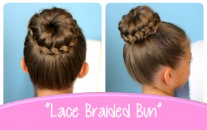 Lace Braid Bun | Cute Updos