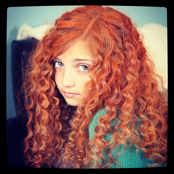 Merida Curls {No-Heat} from Brave