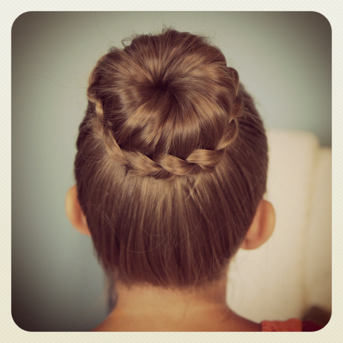 Cute Braided Bun Hairstyles For Short Hair : Lace braided bun cute updo hairstyles girls