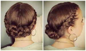 Double Twist Bun Updo | Homecoming Hairstyles