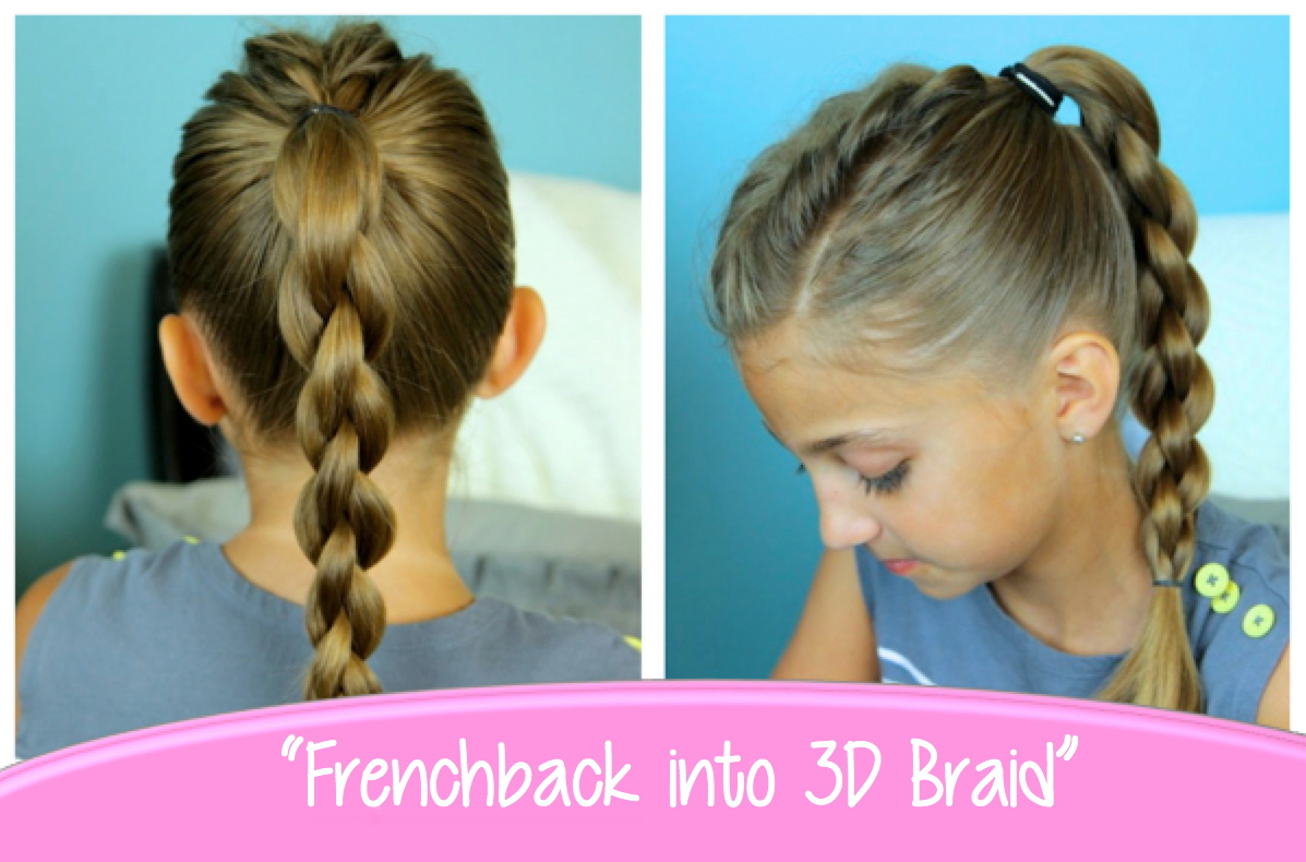 Single Frenchback Into Round Braid Back To School Hairstyles