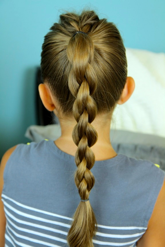 Single Frenchback Into Round Braid Back To School