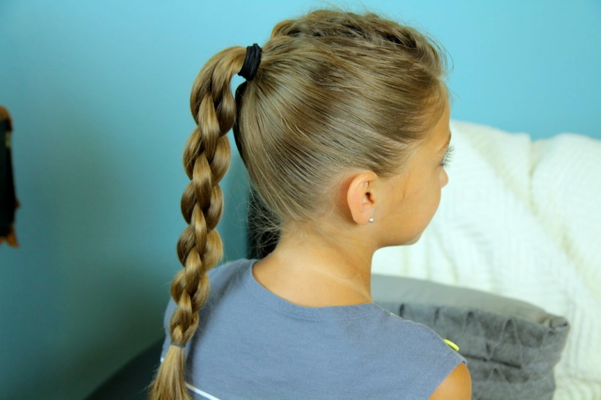 Single Frenchback into Round Braid | Back-to-School Hairstyles