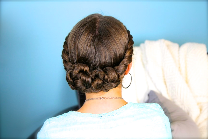 Double-Twist Bun Updo | Homecoming Hairstyles