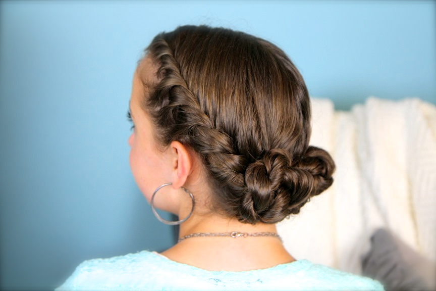 Double-Twist Bun Updo | Homecoming Hairstyles | Cute Girls Hairstyles