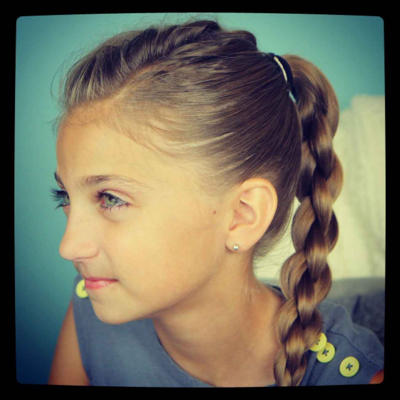 Pleasant Single Frenchback Into Round Braid Back To School Hairstyles Short Hairstyles Gunalazisus