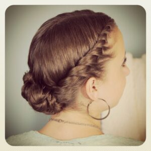 Double-Twist Bun | Updo Hairstyles