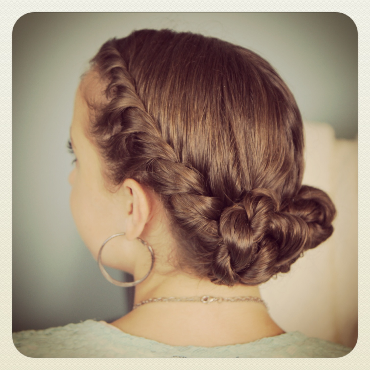 Cute Girl Hairstyles Bun Twist