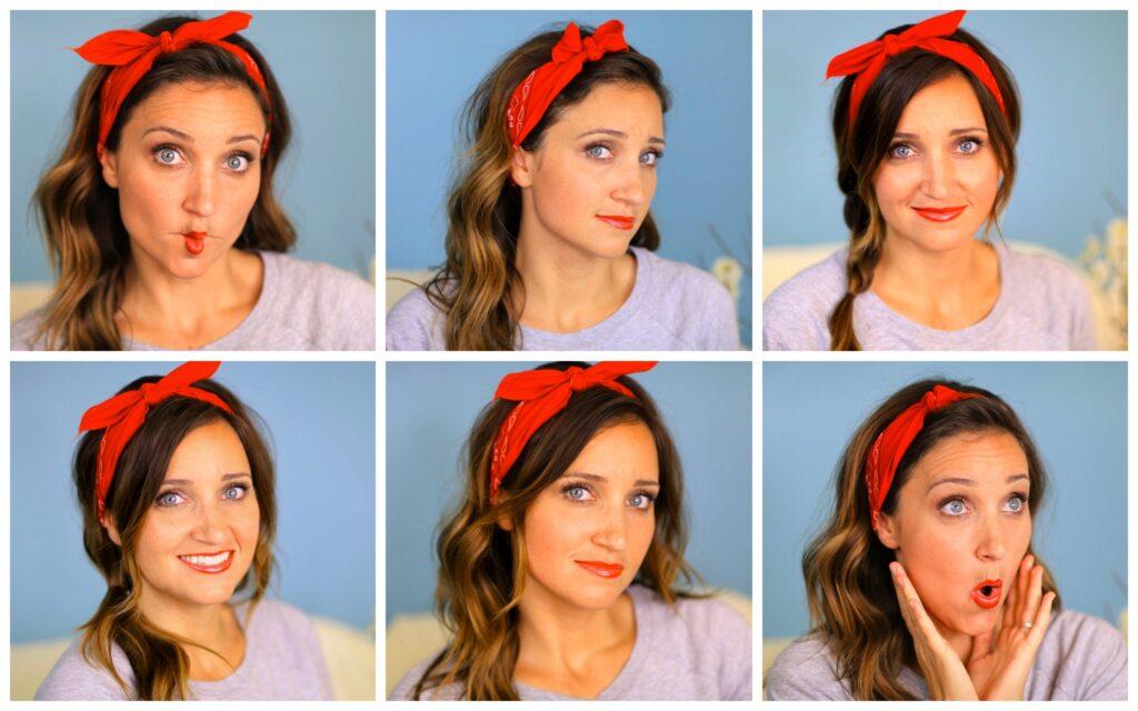 Six DIY 1-Minute Bandana Hairstyles | Cute Girl Hairstyles