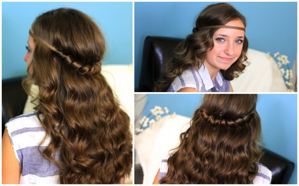 Headband Twist | Half Up Half Down Hairstyles