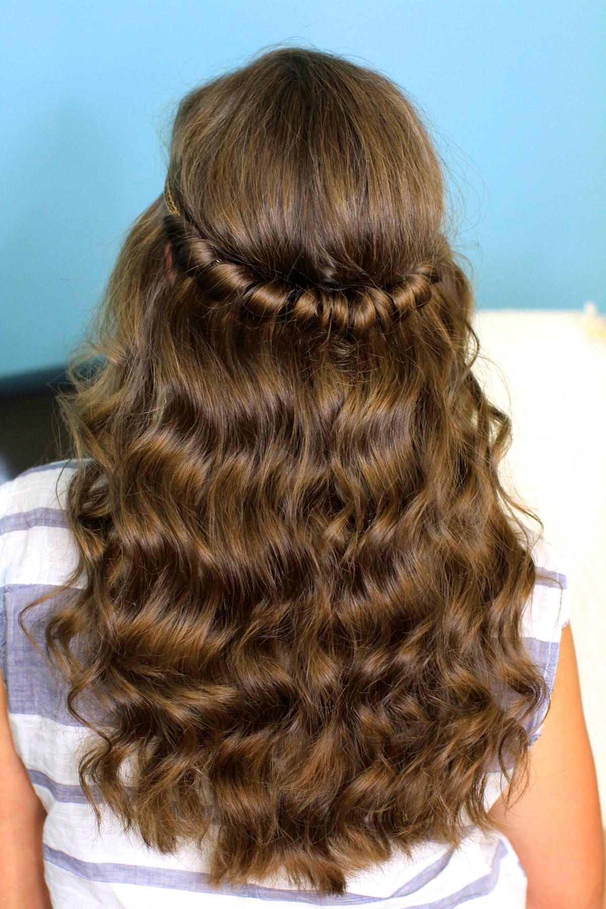 cool hairstyle 2014: curly hairstyles for prom half up half down twist