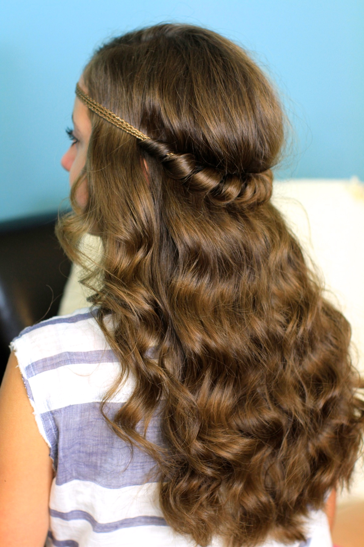 Headband Twist | Half-Up Half Down Hairstyles | Cute Girls ...