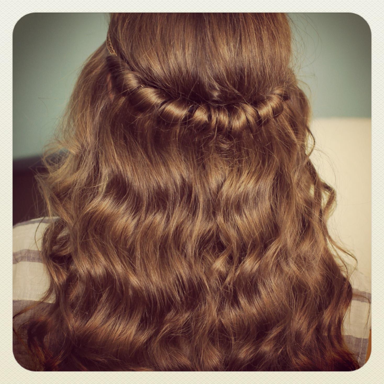 headband twist   half-up half down hairstyles   cute girls hairstyles