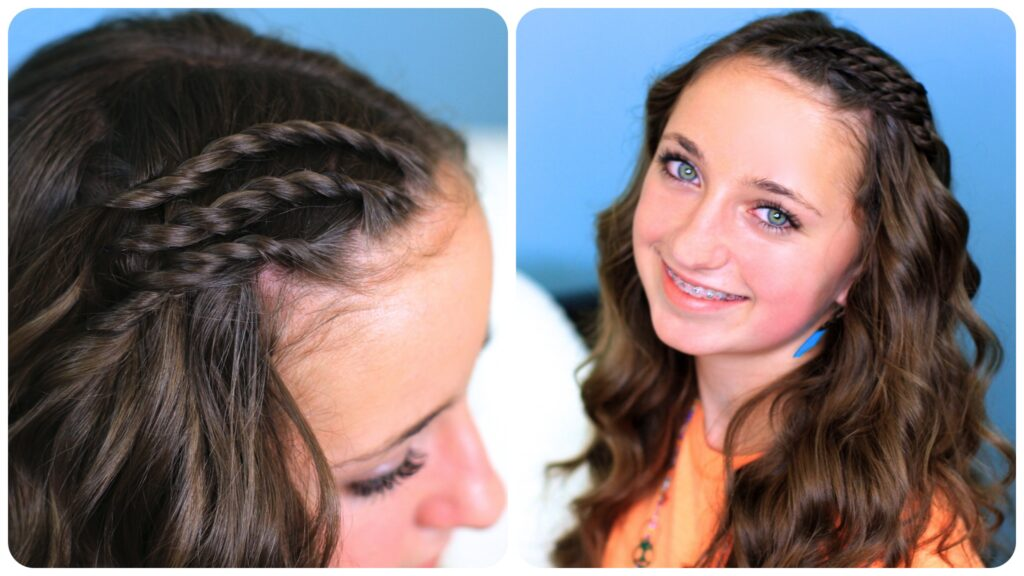 Triple Lace Twists | Cute Hairstyles