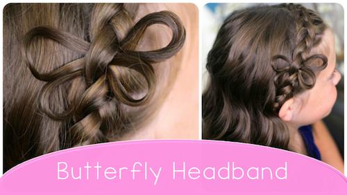 Butterfly Braided Headband | Cute Braids