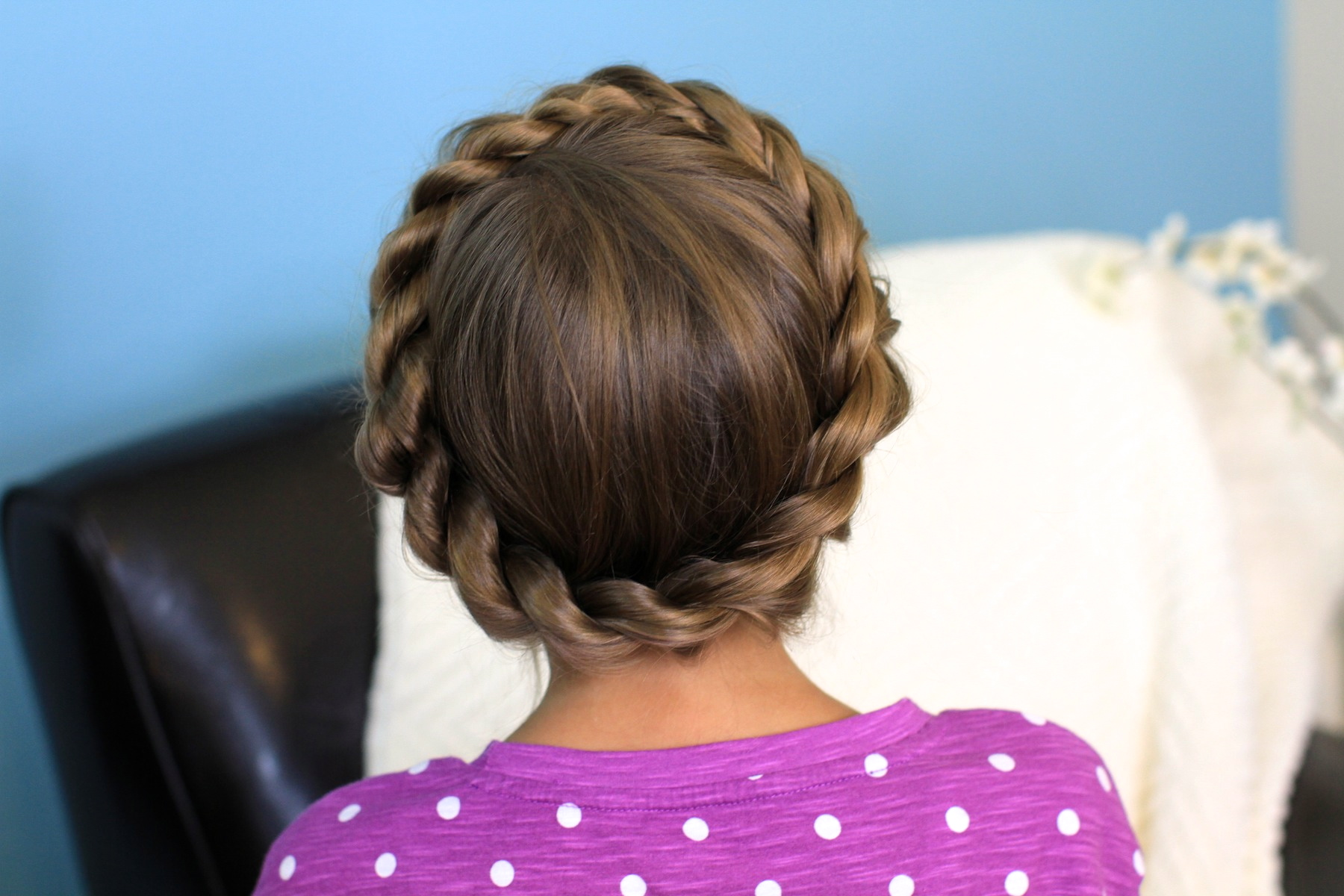 Crown Rope Twist Braid Updo Hairstyles Cute Girls Hairstyles