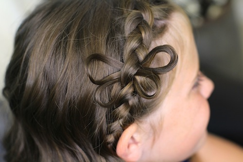 Close-up of Butterfly Braided Headband | Cute Braids