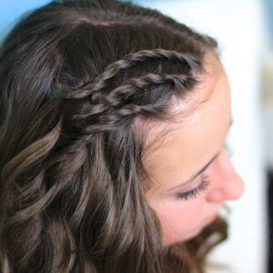 Up-close of Triple Lace Twists | Cute Hairstyles