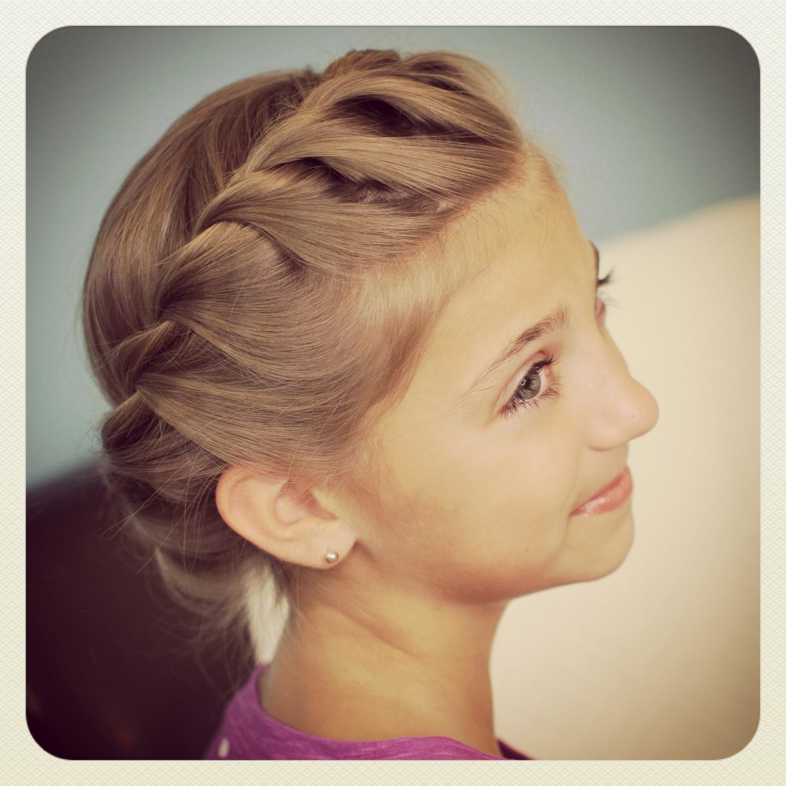 crown rope twist braid | updo hairstyles | cute girls hairstyles