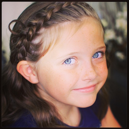 Cute Girls Hairstyles: Butterfly Braided Headband