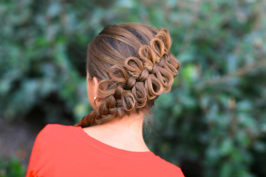 Diagonal Bow Braid | Popular Hairstyles