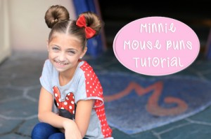 Minnie Mouse Buns | Hairstyle Tutorial