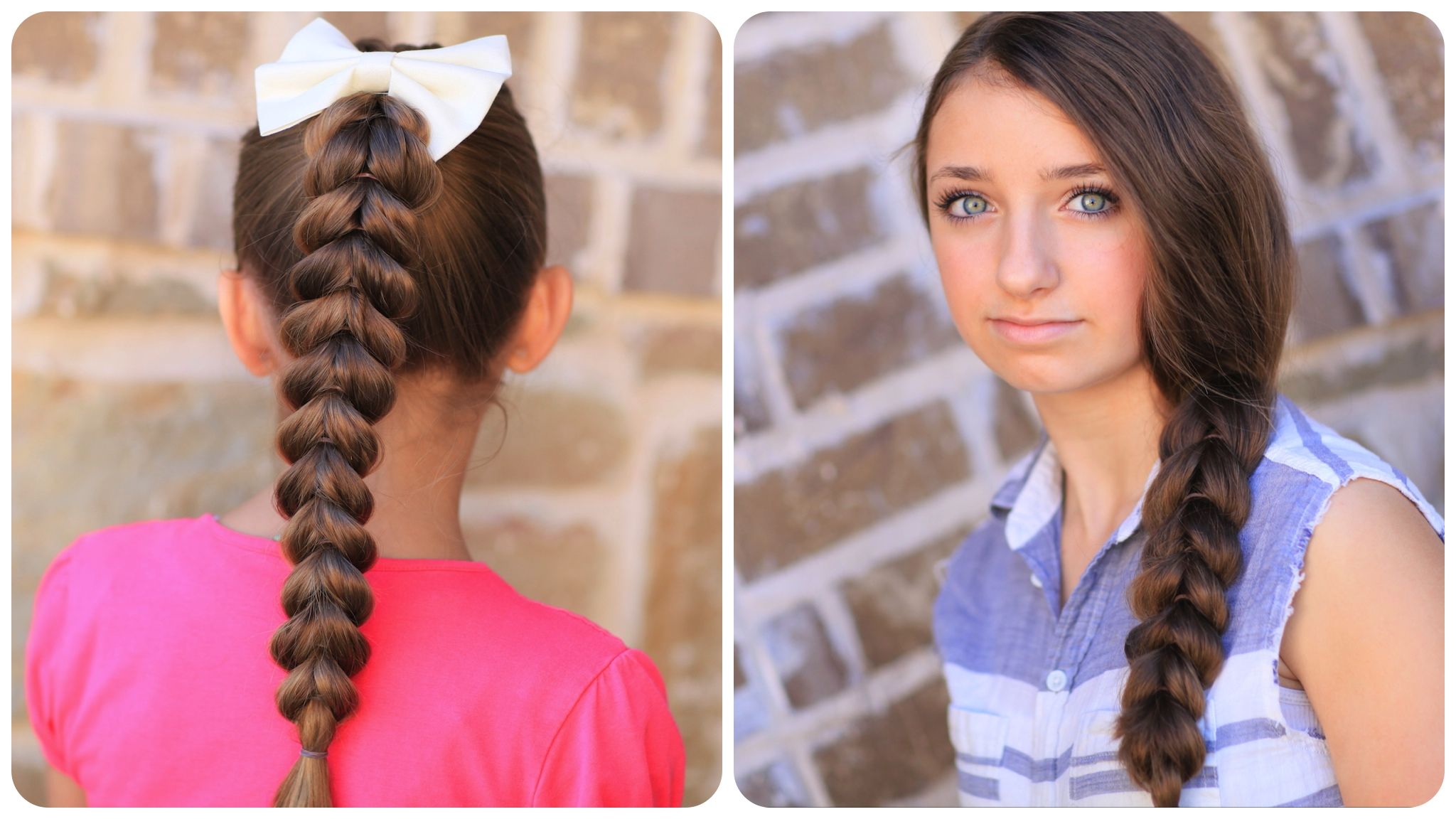 Pull-Through Braid  Easy Hairstyles - Cute Girls Hairstyles