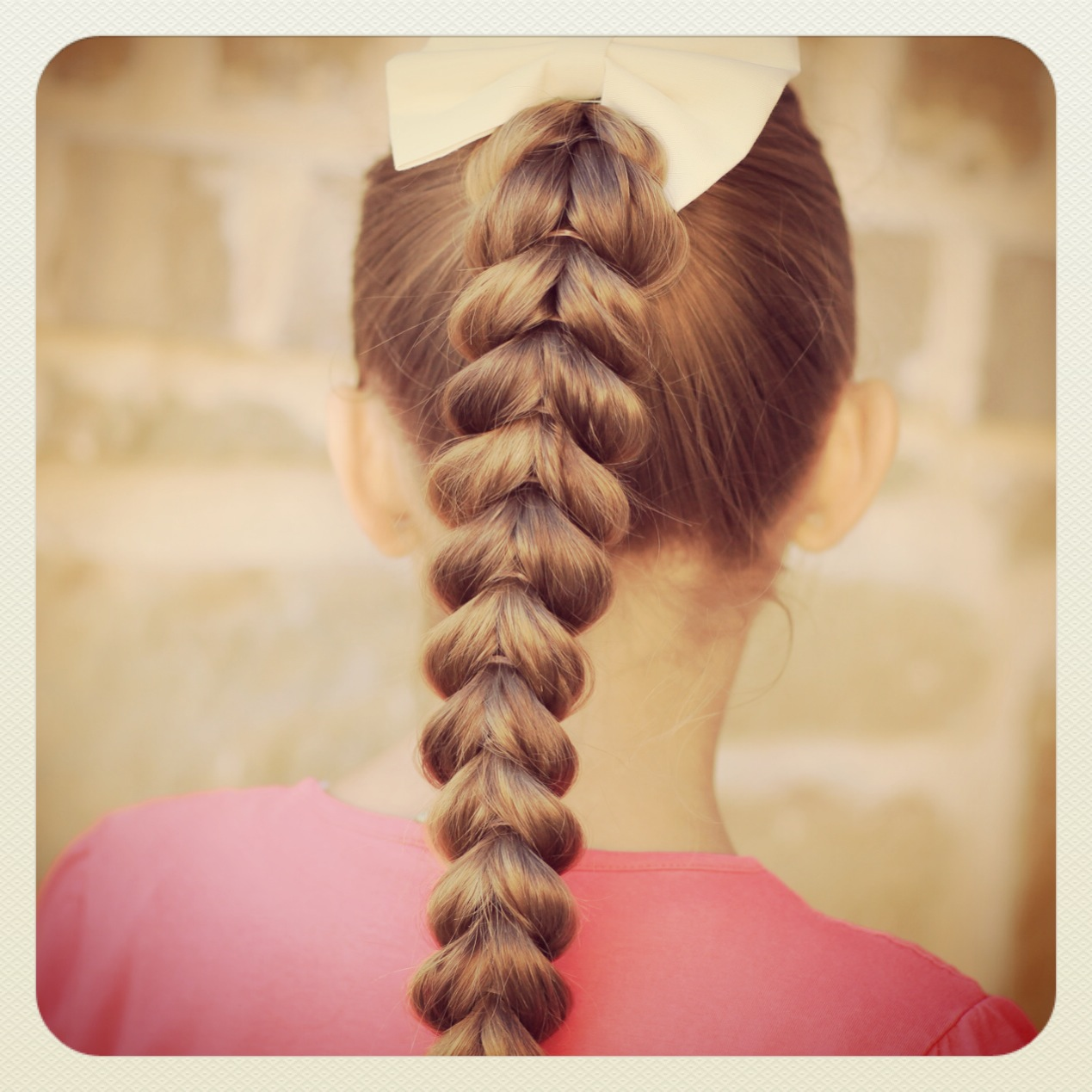 Plus, this Pull-Through Braid is so easy, even a daddy can do it
