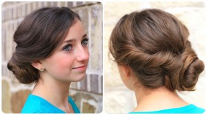 How to create an Easy Twisted Updo