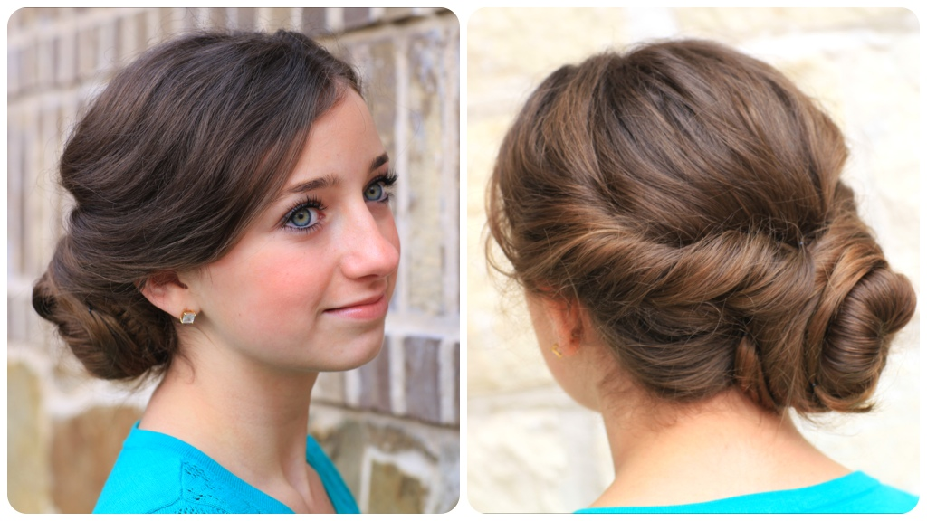 Today we wanted to show you this variation of a twisted bun style that