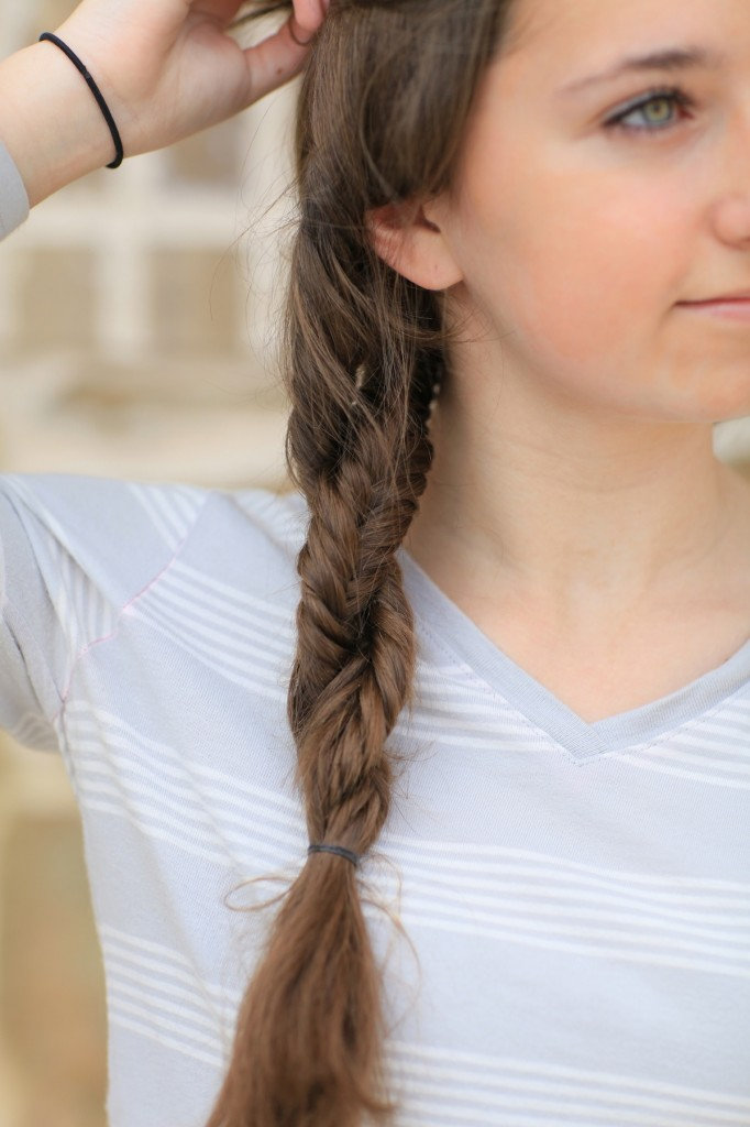 Up-close of the Double Fishtail Twist | Braid Hairstyles