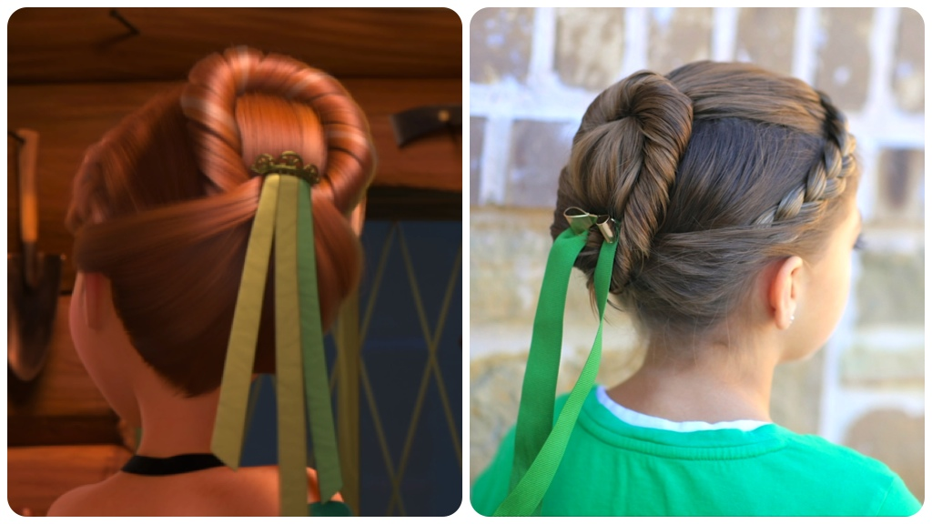 Anna   s Coronation Hairstyle Inspired by Disney   s FrozenAnna Frozen Coronation Day