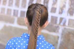 Lace Braided Ponytail | Cute Hairstyles