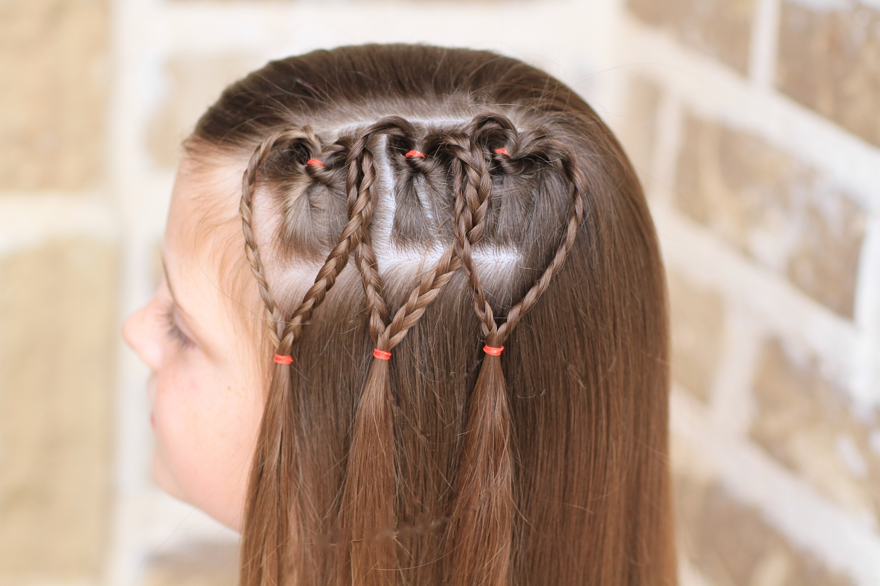 Triple Braided Heart   Valentine's Day Hairstyles