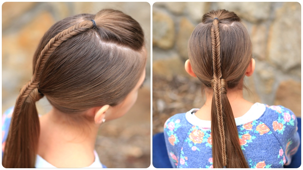 Fishtail-Accented Ponytail | Hairstyles for Sports | Cute Girls ...