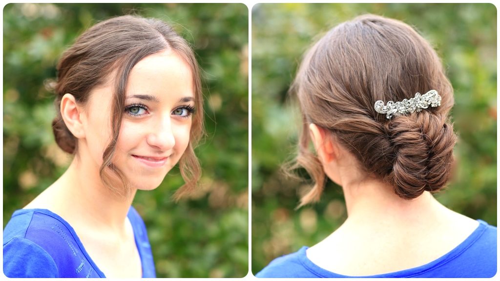 Flipped Fishtail Updo | Prom Hairstyles