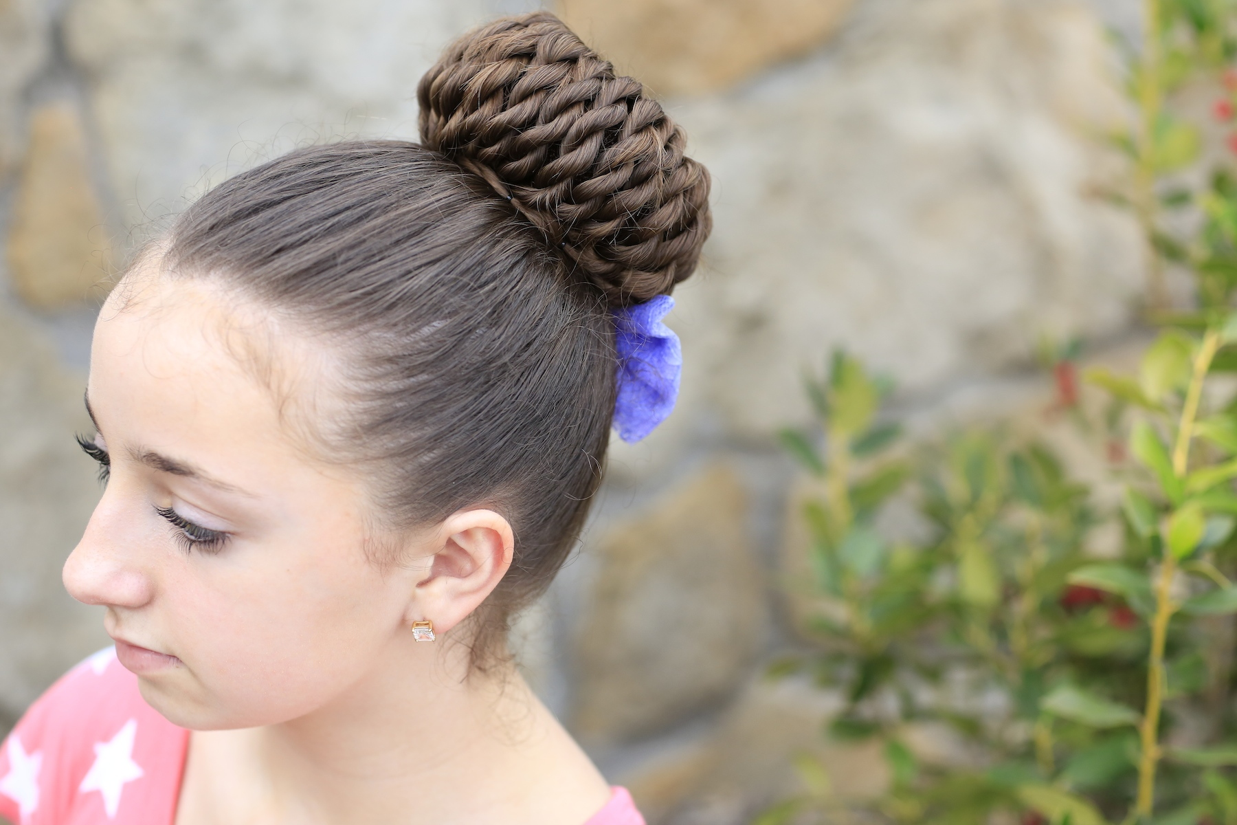Simple  Instead Of Ponytails And Twist Them Up Into A Triple Twisted Braid Bun