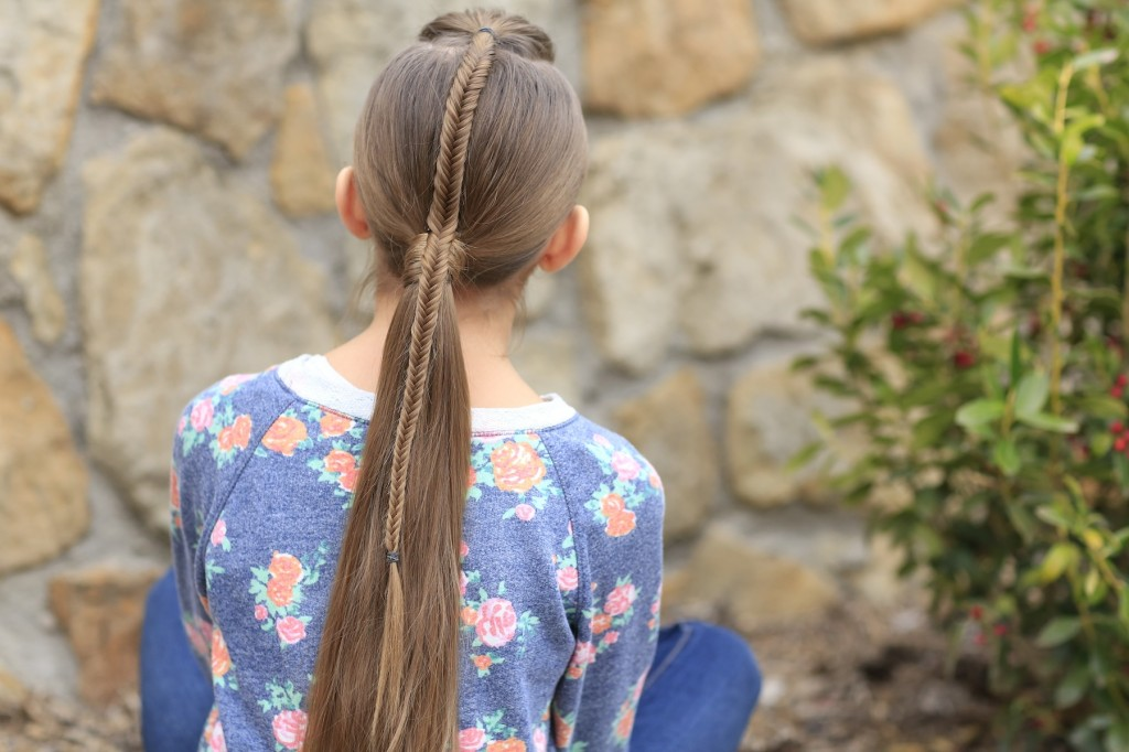 Fishtail Accented Ponytail | Hairstyles for Sports