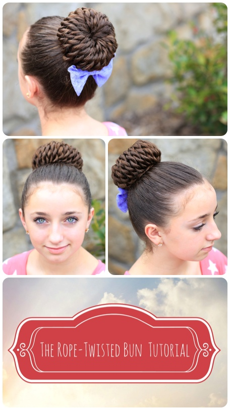 Rope Twisted Pinwheel Bun | Updo Hairstyle