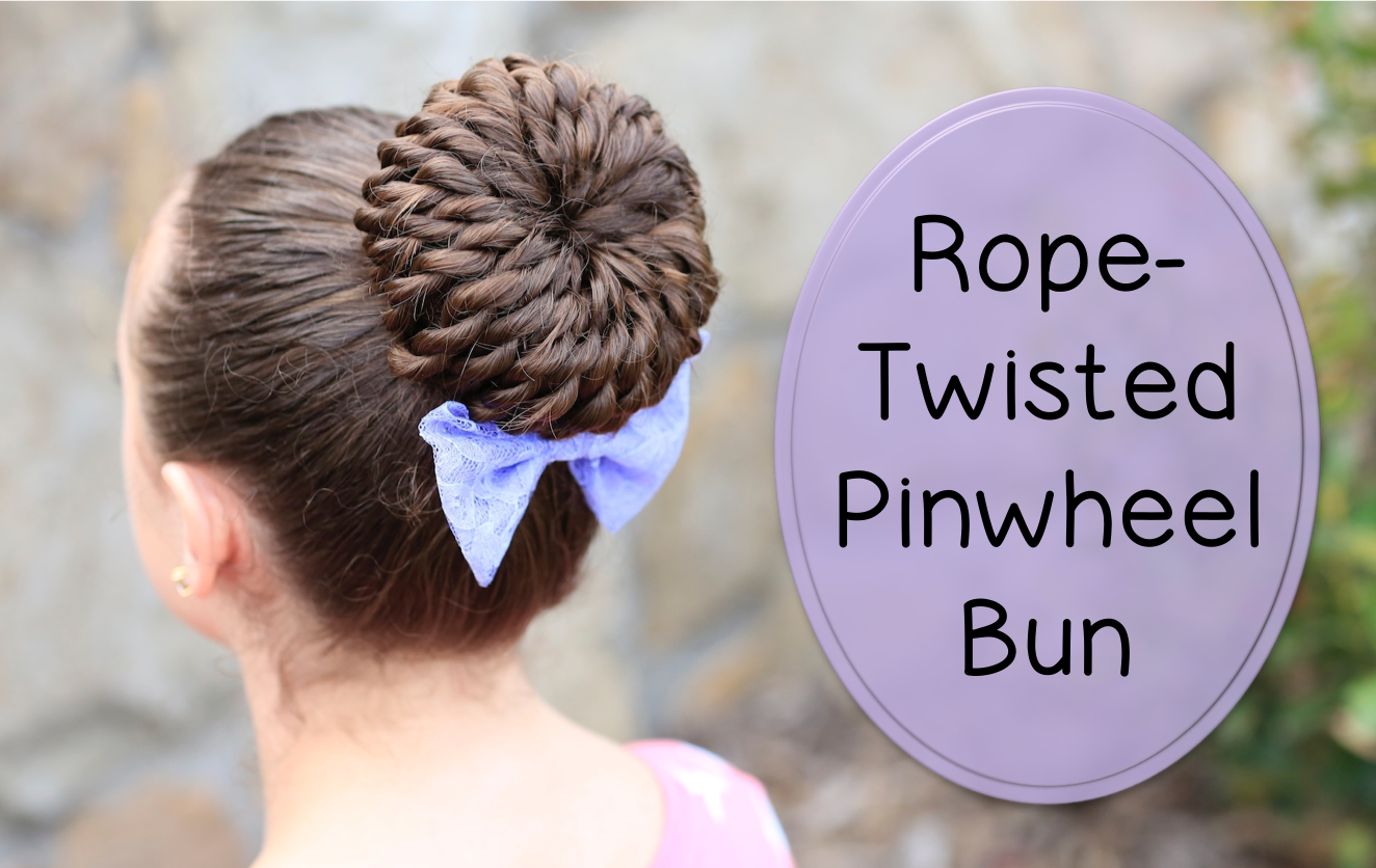 Pinwheel Bun Cute Girls Rope Twist Hairstyles
